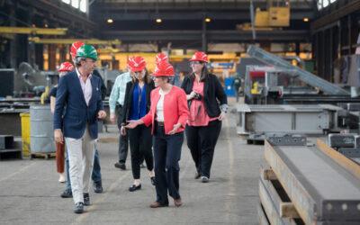 U.S. Senator Joni Ernst tours Paxton & Vierling Steel Structures Building