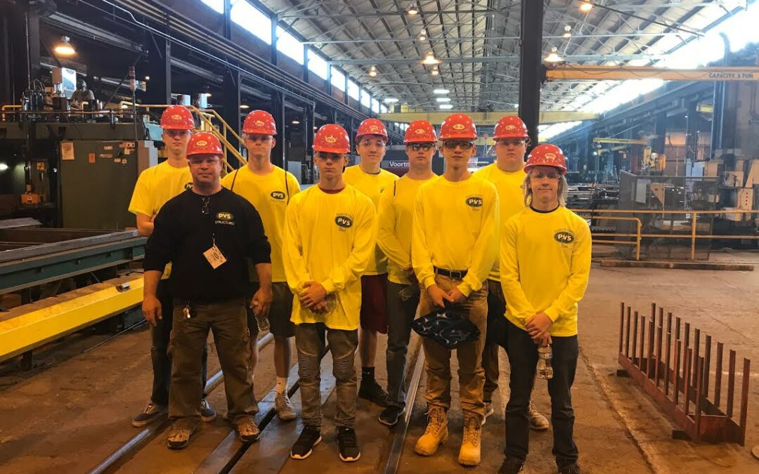 Owen Industries/Paxton & Vierling Steel Hosts Westside High School Welding Program Students