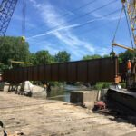 Installation of bridge for Iowa Interstate Railroad