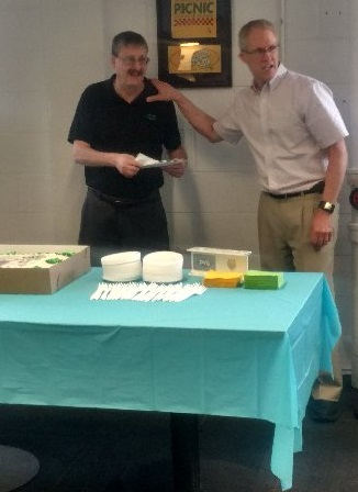 Bob White and Craig Bence, CIO, VP of IT